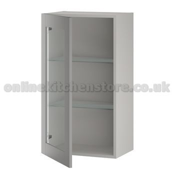 Medium single glass wall unit online kitchen store for Single kitchen wall unit
